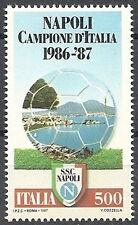 1987 ITALIA NAPOLI CAMPIONE D'ITALIA CALCIO MNH ** - ED