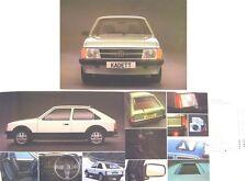Opel Kadett D Berlina SR 1981-82 Original UK Sales Brochure
