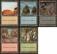 Lot de 5 terrains de base APAC - Blue Pack Basic Lands - Magic mtg Bleu Opened
