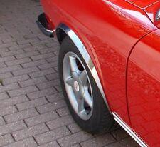Radlaufchrom AUDI 100 C1 Stufenheck Zierleisten Vorne Hinten 4 Stück Bj '68-76