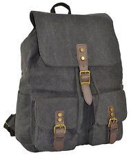 New Men/Women Vintage Strong Canvas Backpack Shoulder Travel School Bag Rucksack