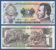 Honduras 5 lempiras 2004 UNC P. 85 D