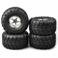 4Pcs 12mm Hex Rubber Bigfoot Tires Wheel Rim for 1:10 Monster Truck RC Model Car