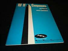 Vintage Ael Rf If Components Catalog Filters Amps Coaxial Multi Bandpass 1973