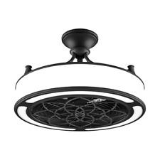 """Damp Outdoor/Indoor 22"""" Fancy Ceiling Fan + Remote Unique Chandelier Drum Light"""