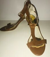 MICHAEL KORS Women's Open-Toe Ankle Strap Sandals Heels in Brown (SIZE 10M)