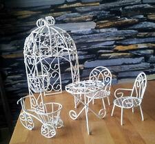 Schaukel Puppenhaus Möbel Gartenmöbel Metall 1:12 Weiß Garten Möbel Gardening