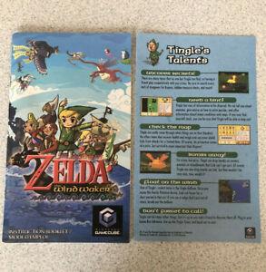 The Legend of Zelda: The Wind Waker MANUAL & TINGLE'S TALENTS INSERT