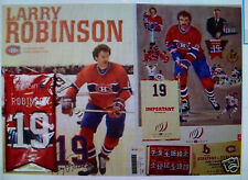 Larry Robinson # 19 Complete Kit Retiring Jersey Night BANNER,BOOKLET,TICKET, ++