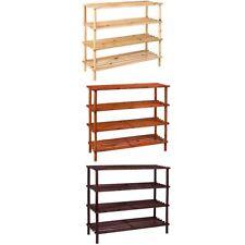 4 Tier Shoe Rack Stand Natural Walnut Oak Storage Unit Shelf By Home Discount