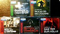 HORRORZONE 5 Jugend Grusel-Hörbücher ab 14 - neu - 15 CDs Hörbuch-PAKET Konvolut