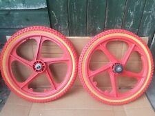 Rare Red OGK Japan Old School Bmx Mag Wheels Suzue Japan Hubs Suntour Freewheel