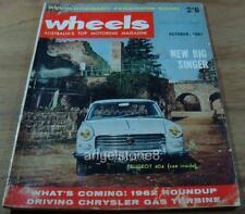 1961.WHEELS.Dodge.Humber.Vangard.Mercedes 300SE.Peugeot 404.Geoghegan HOT HOLDEN