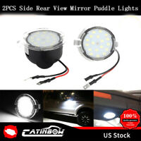 2X Rearview Side Mirror Puddle Lights LED Car Lamp Courtesy Light For Ford Edge