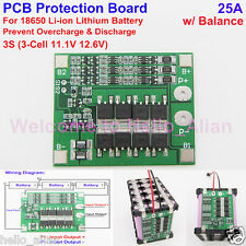 3S 12V 25A Balance Li-ion Lithium Battery Charger Batterie Protection Board