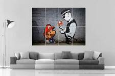 BANKSY STREET ART MARIO BROS GRAFFITI Wall Art Poster Grand format A0 Large