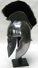 Troy Achilles Helmet Warrior W/Black Plume World War Helm.Halloween Costume