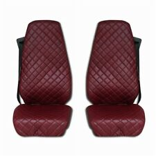 Volvo FH4 FH 12 FH 16 AFTER 2014 Truck Seat Covers ECO LEATHER RED 2 pieces