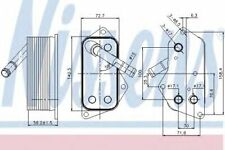 Nissens Oil Cooler Transmission engine oil 90689 Replace 11427525333,11427525333