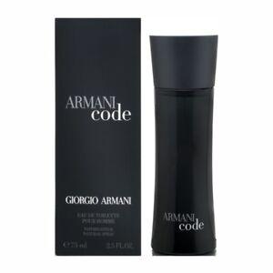 ARMANI CODE pour HOMME by Giorgio Armani * 2.5 oz (75 ml) EDT Spray NEW & SEALED