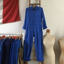 Vintage French Workwear Cotton Chore Coveralls Overalls Boiler Suit S M