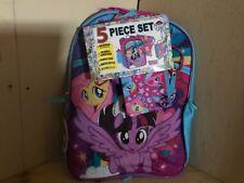 Hasbro My little pony backpack. 5 piece set. BN. FS. Includes water bottle.