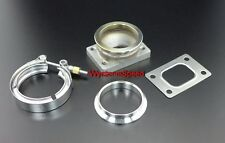 """T25 T28 Turbo Inlet To 3"""" V Band Stainless Steel Flange Adp w/ GSK CLAMP RING"""