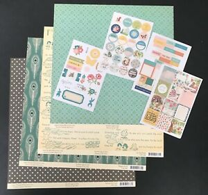 October Afternoon Woodland Park 4 12x12 Patterned Paper & 5 sheets of stickers R