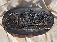 Miniature classical chariot cherub animal Intaglio grand tour gem theme plaster