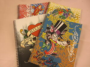 Ed Hardy Tattoo Artist A4 Spiral Bound Note Pad Various Designs