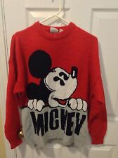 Vintage Mickey Mouse  Sweater  Disney Mickey & Co SZ L Acrylic Ugly Christmas