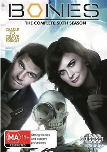 BONES The Complete Season 6 Cradle to the Grave Edition DVD (6 Disc Set) R4 NEW