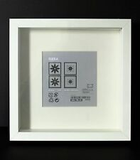 NEW DEEP SQUARE WHITE IKEA SHADOW BOX PHOTO FRAME MEMORY BOX 23 x 23cm GENUINE
