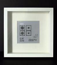 NEW DEEP SQUARE WHITE IKEA SHADOW BOX PHOTO FRAME MEMORY BOX 23 x 23cm GENUINE