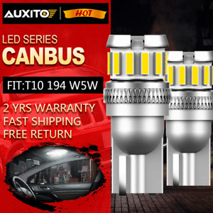 2X AUXITO T10 LED Parker Wedge Light Globe Bulb Super Bright 168 2825 194 W5W