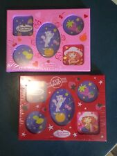 Lot of 2 Brand New!! Strawberry Shortcake Photo Frames -Red and Pink