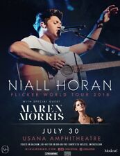 "NIALL HORAN / MAREN MORRIS ""TOUR 2018"" SALT LAKE CONCERT POSTER - One Direction"