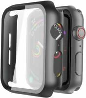 Hard Case For Apple Watch Series 5 4 44mm with Screen Protector Tempered Glass