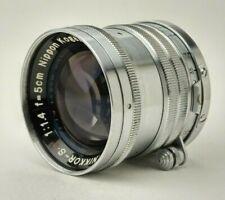 Nikkor-S.C Nippon Kogaku 5cm 50mm f/1.4 LTM L39 M39 Lens