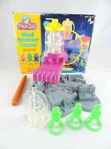 PLAY-DOH Mad Monster Creator set INCOMPLETE 1994 Playskool Hasbro Glows in Dark