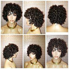 100% Brazilian Remy Human Hair Full Cap Oprah Curl Wig  Natural Color