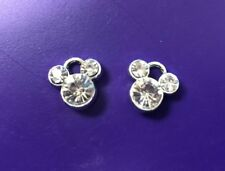 **ON SALE**Lot of 2 Mickey Mouse Rhinestone Charms