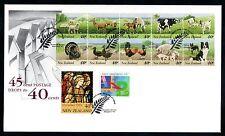 New Zealand 1992 2 FDCs Farmyard Animals - Both 40c & 45c Booklet Panes