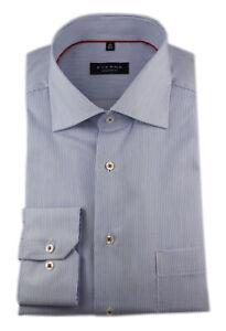 ETERNA Langarm Hemd Comfort Fit Kent blau weiß Gestreift Gr. 47 / 3817.15.E19K