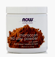 now foods solutions moroccan red clay powder 6 oz (170 g) facial cleanser +gift