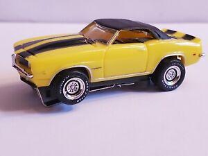 "69 CAMARO HO Slot Car, ULTRA G CHASSIS, CHROME RIMS & LETTERED ""GOODYEAR"" TIRES"
