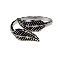 Toe Ring .925 silver girls adjustable open foot beach Laurel Leaf feeanddave