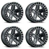 "Set 4 18"" Redbourne Alston 18x8.5 Black w/ Machined 5x120 Wheels 25mm 5 Lug Rims"