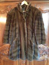 Manteau en vison brun