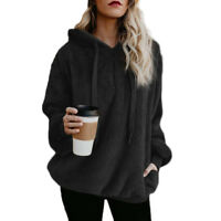 Women's Autumn Warm Hoodies Long Sleeve Coat Sweatshirt Outwear Tops Pullover #B